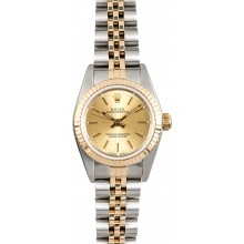 Fake Rolex Ladies Oyster Perpetual 76193 Champagne JW0502