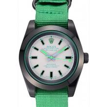 Fake Rolex Milgauss Bamford Green Nylon Strap 622004
