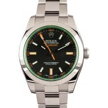 Fake Rolex Milgauss Green Anniversary 116400V JW2214