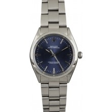 Fake Rolex Oyster Perpetual 1002 Blue Dial JW2225