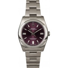 Fake Rolex Oyster Perpetual 116000 Red Grape Dial JW2237