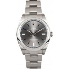 High Imitation Rolex Oyster Perpetual 114300 Dark Rhodium Index Dial JW2232