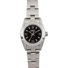 High Quality Imitation Rolex Ladies Oyster Perpetual 76080 Black Dial JW0500