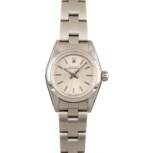 High Quality Knockoff Rolex Ladies Oyster Perpetual 76080 Silver Index Dial JW0501