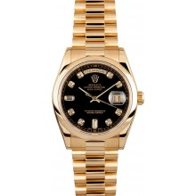 High Quality Knockoff Rolex Men's President Gold Day-Date 118208 JW2201