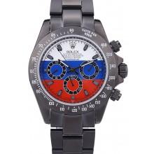 High Quality Replica Rolex Cosmograph Daytona Black Bracelet Russian Flag Dial 7472