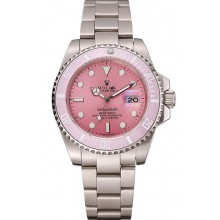 Imitation AAAAA Swiss Rolex Submariner Pink Dial Pink Bezel Stainless Steel Bracelet 1453980