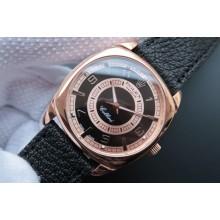 Imitation Best Rolex Cellini Danaos 4243 Black/White Dial Black Leather Strap WJ00183