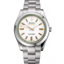 Imitation Best Swiss Rolex Milgauss White Dial Orange Markings Stainless Steel Case And Bracelet