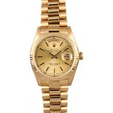 Imitation Men's Rolex President 18038 Day-Date Yellow Gold JW0727