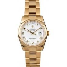 Imitation Rolex Day-Date 118208 with 18k Oyster Bracelet JW1995