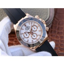 Imitation Rolex Daytona 116515 White Dial Black Rubber Strap WJ00765