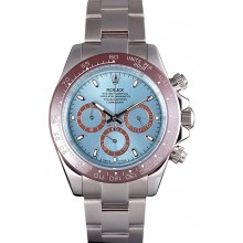 Imitation Rolex Daytona Ice Blue Dial Brown Bezel Stainless Steel Bracelet 621572