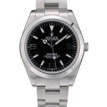 Imitation Rolex Explorer Stainless Steel Bezel Black Dial 41984