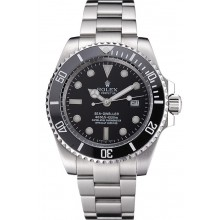 Imitation Rolex Sea Dweller Black Dial Stainless Steel Case And Bracelet 622837