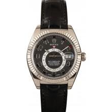 Imitation Rolex Sky-Dweller 326139 Black Dial JW2380
