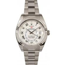 Imitation Rolex Sky-Dweller 326939 White Gold JW2383