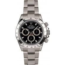 Imitation Rolex Steel Daytona 116520 Black Dial TT JW2393