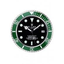 Imitation Rolex Submariner Wall Clock Silver-Green 621912