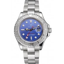 Imitation Swiss Rolex Yacht-Master Blue Dial Stainless Steel Case And Bracelet