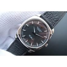 Knockoff High Quality Rolex Cellini Danaos 4243 Black Dial Black Leather Strap WJ00186