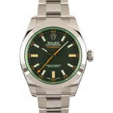 Knockoff High Quality Rolex Milgauss Green Crystal 116400V JW2215
