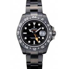 Knockoff Rolex Swiss Explorer Black Ceramic Bezel Black Dial Tachymeter 98239