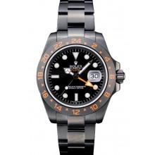 Knockoff Rolex Swiss Explorer Black Ceramic Bezel Black Dial Tachymeter 98240