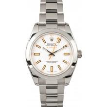 Luxury Steel Rolex Milgauss 116400 White Dial JW2605