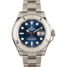 Mens Blue Platinum Rolex Yachtmaster JW0671