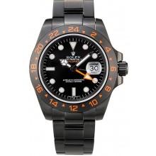 Replica AAA Rolex Explorer Black Ceramic Bezel Black Dial Tachymeter