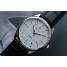 Replica Fashion Rolex MK Cellini Time 50509 White Dial Leather Strap WJ00385