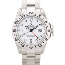 Replica Rolex Explorer Stainless Steel Tachymeter White Dial