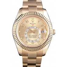 Replica Rolex Sky Dweller Oyster Perpetual Special Edition 2012 Yellow Gold 80243