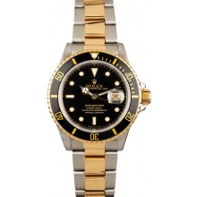 Replica Rolex Submariner 16613 Black Dial Two-Tone Oyster JW2445