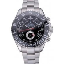 Replica Rolex Yacht - Master II Black Dial Stainless Steel Bracelet 622541