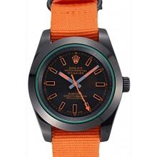 Rolex Milgauss Bamford Orange Nylon Strap 622003