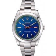 Rolex Milgauss Blue Dial Stainless Steel Case And Bezel 622838