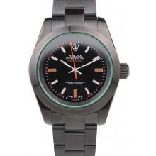 Rolex Milgauss Pro-Hunter Tinted Green Saphire Black Dial