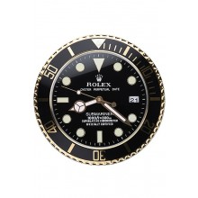 Rolex Submariner Wall Clock Black-Gold 622476