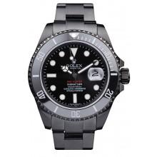 Rolex Swiss Submariner Pro-Hunter Black Steel Strap Black Dial