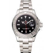Rolex Yacht-Master Black Dial Stainless Steel Case And Bracelet