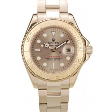 Rolex Yacht Master Gold Tachymeter Gold Dial 98232