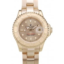 Rolex Yacht Master Gold Tachymeter Gold Dial 98233