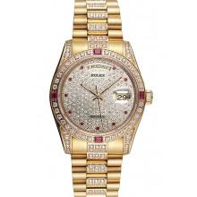 Swiss Rolex Day-Date Diamonds Yellow Gold-srl184 621614