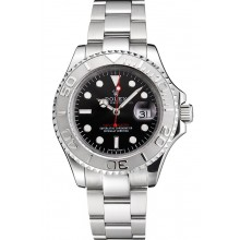 Swiss Rolex Yacht-Master Black Dial Stainless Steel Case And Bracelet