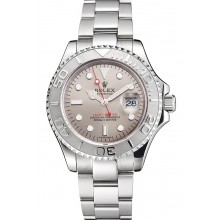 Swiss Rolex Yacht-Master Gray Dial Stainless Steel Case And Bracelet