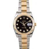 Fake Cheap Rolex Datejust 116233 Black Diamond JW1754