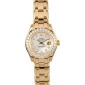 Fake Ladies Rolex Pearlmaster 69298 Diamond JW0348