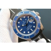 Fashion Copy Rolex Submariner 116619 Blue Ceramic V7 Black Rubber Strap Rolex WJ00893